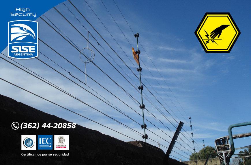 Cerco eléctrico perimetral de uso legal
